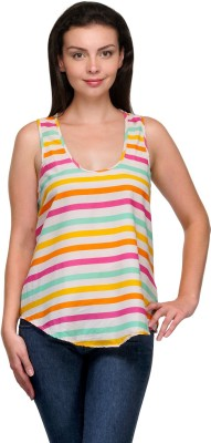 Zachi Casual Sleeveless Striped Women's Multicolor Top