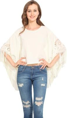 Albely Casual Short Sleeve Solid Women's Beige Top