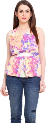 Ridress Casual Sleeveless Printed Women's Multicolor Top