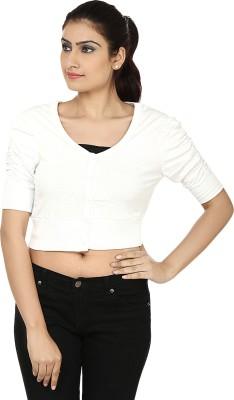 Haniya Casual 3/4 Sleeve Solid Women's White Top