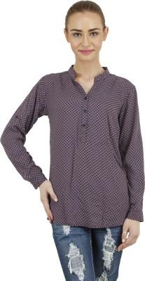 Hapuka Casual Full Sleeve Printed Women's Blue Top