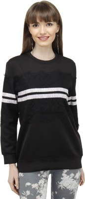 Pab Jules Casual Full Sleeve Solid Women's Black Top