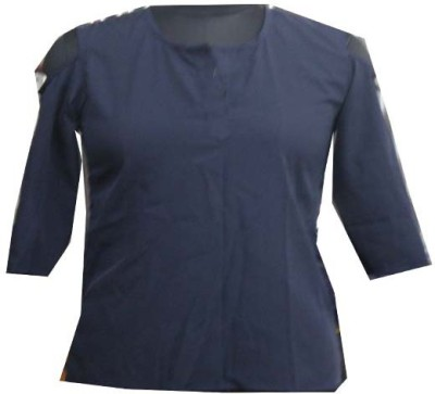 sap Casual Full Sleeve Self Design Girl's Blue Top