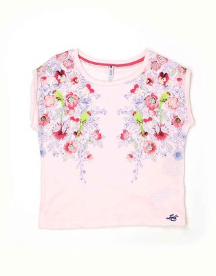 Levi's Casual Sleeveless Printed Girl's Pink Top