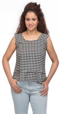 A A Store Casual Sleeveless Printed Women's Multicolor Top