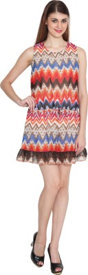 Sharleez Casual Sleeveless Printed Women's Multicolor Top