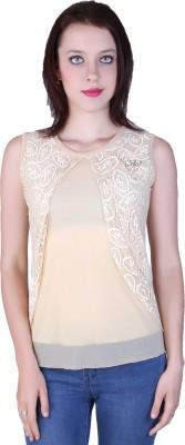 Zavi Casual Sleeveless Solid Women's Yellow Top