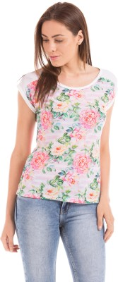 Prym Casual Cap sleeve Solid Women's Multicolor Top