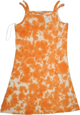Mankoose Formal Sleeveless Printed Girl's Orange Top