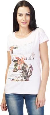 NEENUS Casual Short Sleeve Printed Girl's Pink Top
