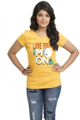 Wear Your Opinion Casual Short Sleeve Printed Women,s Yellow Top
