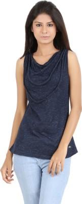 MA Polka Print Women's Draped Neck T-Shirt