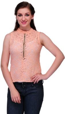 Samayra Casual Sleeveless Woven Women's Pink Top