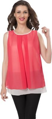 Ishindesignerstudio Party Sleeveless Solid Women's Red Top