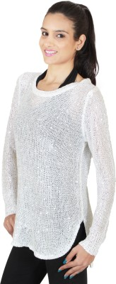 SXY! Party, Festive, Lounge Wear Full Sleeve Embellished Women's White Top