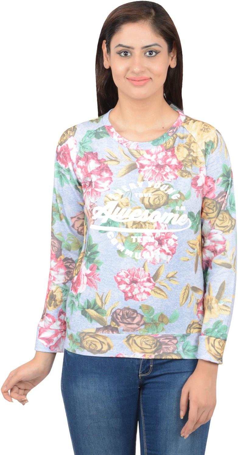 Merch21 Casual Full Sleeve Printed Women's Pink Top best price on Flipkart @ Rs. 348