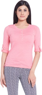 Globus Casual Full Sleeve Solid Women's Pink Top