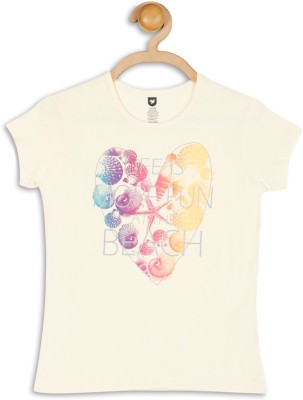 612 League Casual Short Sleeve Printed Girl's White Top