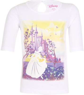 Miss Alibi by Inmark Casual Short Sleeve Printed Girl's White Top