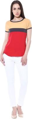 pinaki perryhills Casual Short Sleeve Solid Girl's Multicolor Top