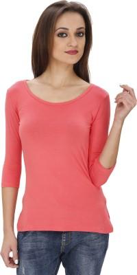 Svt Ada Collections Party 3/4 Sleeve Solid Women's Orange Top
