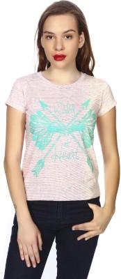 karney Casual Short Sleeve Printed Women's Pink Top