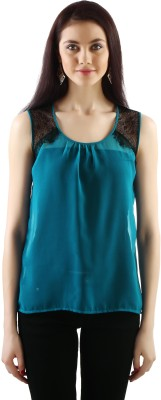 20Dresses Casual Sleeveless Solid Women's Blue, Black Top