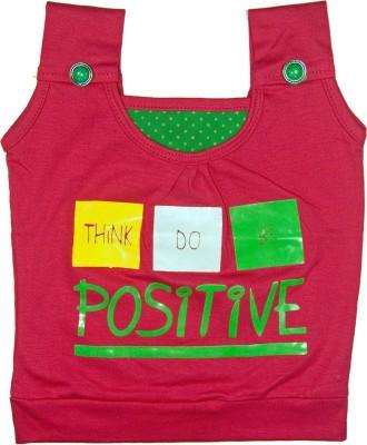 Retaaz Casual, Festive, Party Sleeveless Solid Girl's Multicolor Top