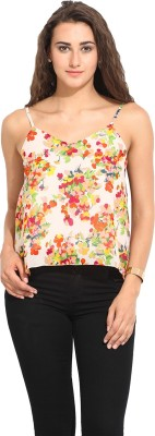 Lucero Casual Sleeveless Floral Print Women's Multicolor Top