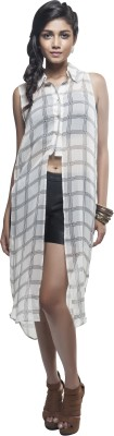 Sassystripes Casual Sleeveless Solid Women's Multicolor Top