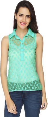 20Dresses Casual Sleeveless Solid Women's Green Top