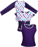 Gkidz Top For Girls Casual Cotton (Purpl...