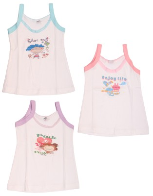 Babeezworld Casual Sleeveless Printed Baby Girl's Multicolor Top