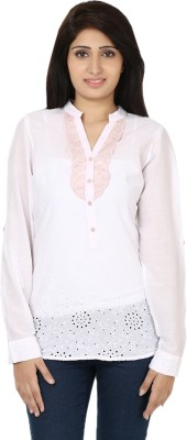 Ru-Ru Casual Full Sleeve Solid Women's Pink Top