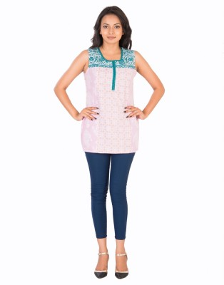Sunshine Casual Sleeveless Solid Women's Pink Top