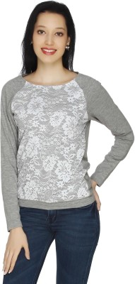 20Dresses Casual Full Sleeve Solid Women's Grey, White Top