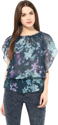 Seeyaar Casual Sleeveless Printed Women's Multicolor Top