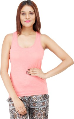 Colornext Casual Sleeveless Solid Women,s Pink Top
