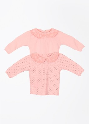 Day 2 Day Casual Full Sleeve Printed Pink Top
