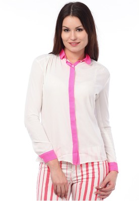 I Know Casual Full Sleeve Solid Women,s White Top