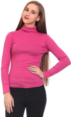 Saiints Casual Full Sleeve Solid Women's Pink Top