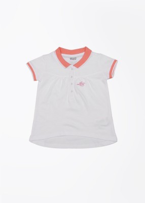 Levi's Casual Short Sleeve Solid Girl's White Top
