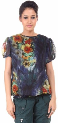 Fashion Planet Casual Short Sleeve Solid Women's Black Top