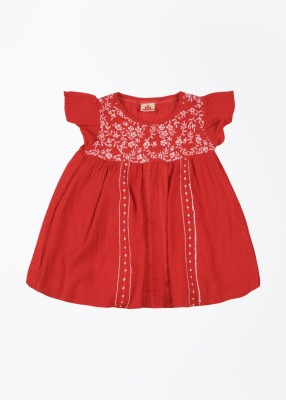 UFO Casual Short Sleeve Solid Girl's Red Top