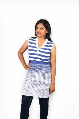 Pragati Fashions Casual Sleeveless Striped Women's Blue, White Top
