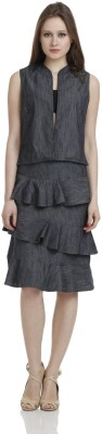 James Scot Formal, Party, Lounge Wear Sleeveless Solid Women's Grey Top