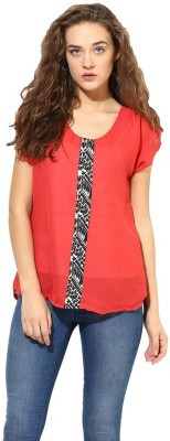 La Firangi Casual Sleeveless Solid Women's Red Top