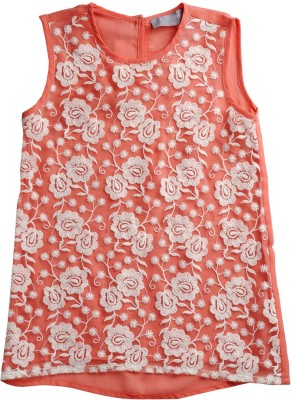 Kami Casual Sleeveless Solid Girl's Pink Top