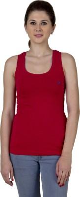 Jprana Sports Sleeveless Solid Women's Red Top