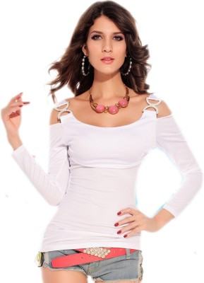 NITEIN Casual Full Sleeve Solid Women's White Top
